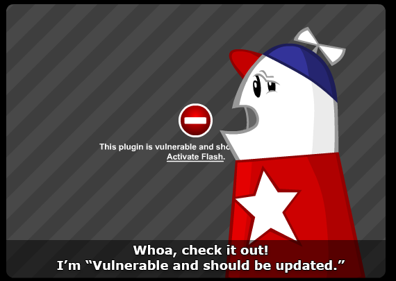 Homestar Runner contemplates the demise of flash